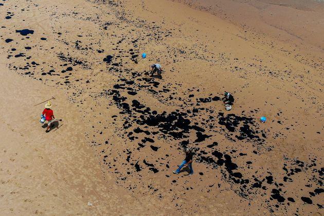 """Alegando que o derramamento de óleo no oceano é uma """"nova forma de ameaça"""",..."""
