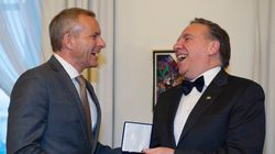 Le premier ministre François Legault rencontre David
