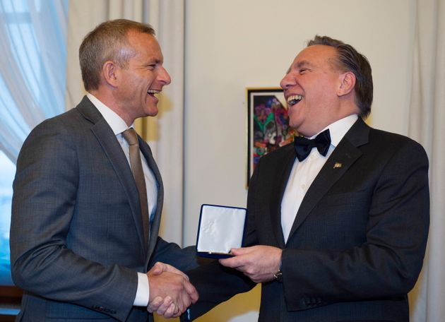 Le premier ministre François Legault rencontre David Saint-Jacques