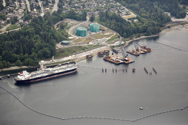 The Westridge Marine Terminal, the terminus of the Trans Mountain Pipeline in B.C. on June 29,