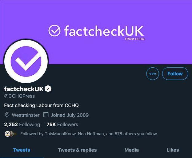 Le compte Twitter du service de presse du Parti conservateur transformé en