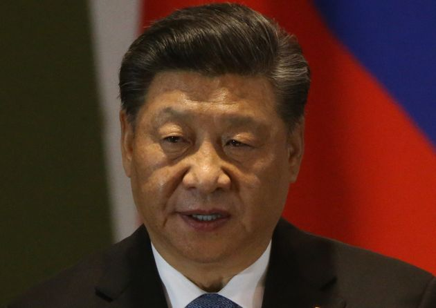 BRASILIA, BRAZIL - NOVEMBER,14 (RUSSIA OUT) Chinese President Xi Jinping speeches during the BRICS Summit...
