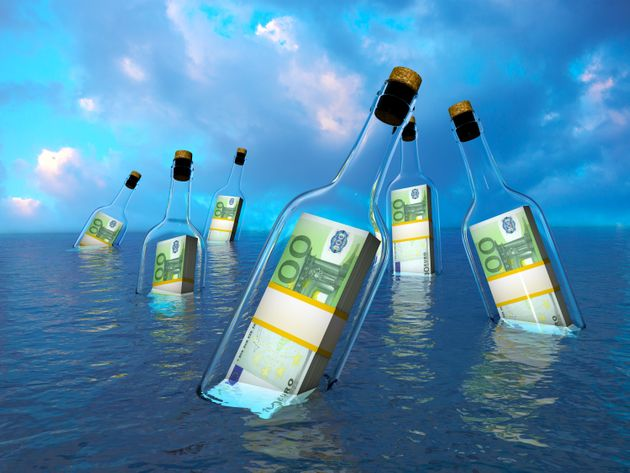 Money in a bottle - Financial