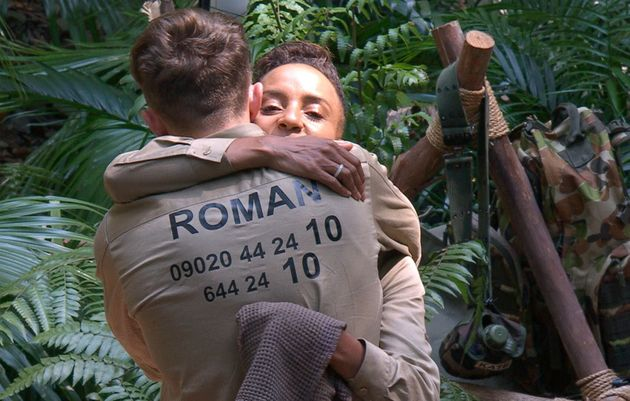 The pair hugged it out after Roman realised he'd upset