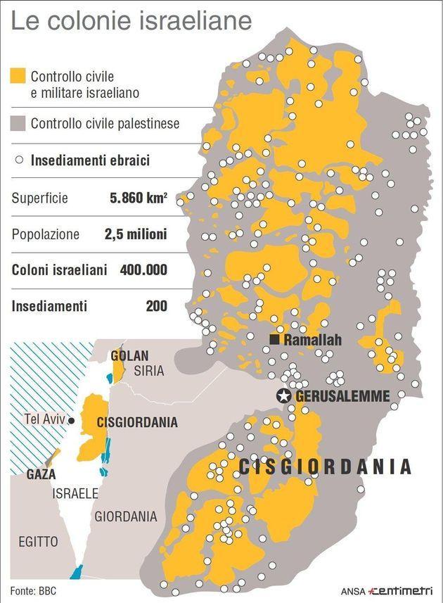 Israele dall'occupazione all'annessione della Cisgiordania, grazie a