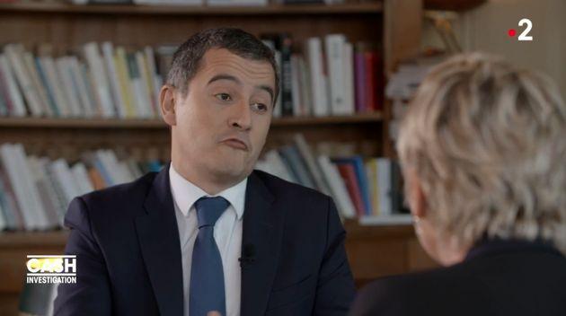 Gérald Darmanin n'a que très peu goûté les questions d'Élise Lucet...