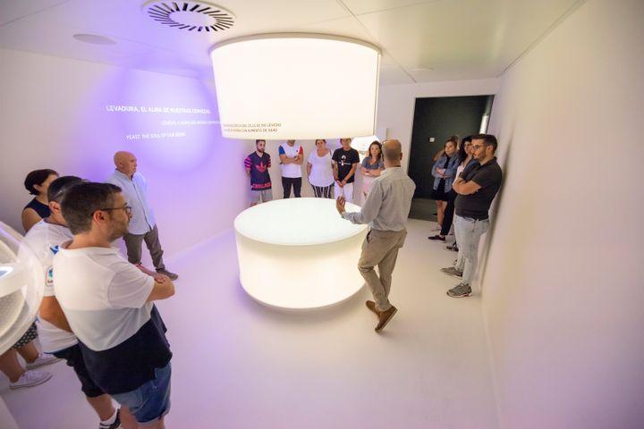 <i>Sala interativa das leveduras.</i>