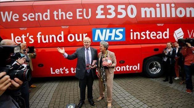 Boris Johnson durante la campaña electoral de