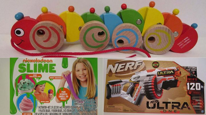 Three of the toys World Against Toys Causing Harm unveiled in its annual list of dangerous toys Tuesday.
