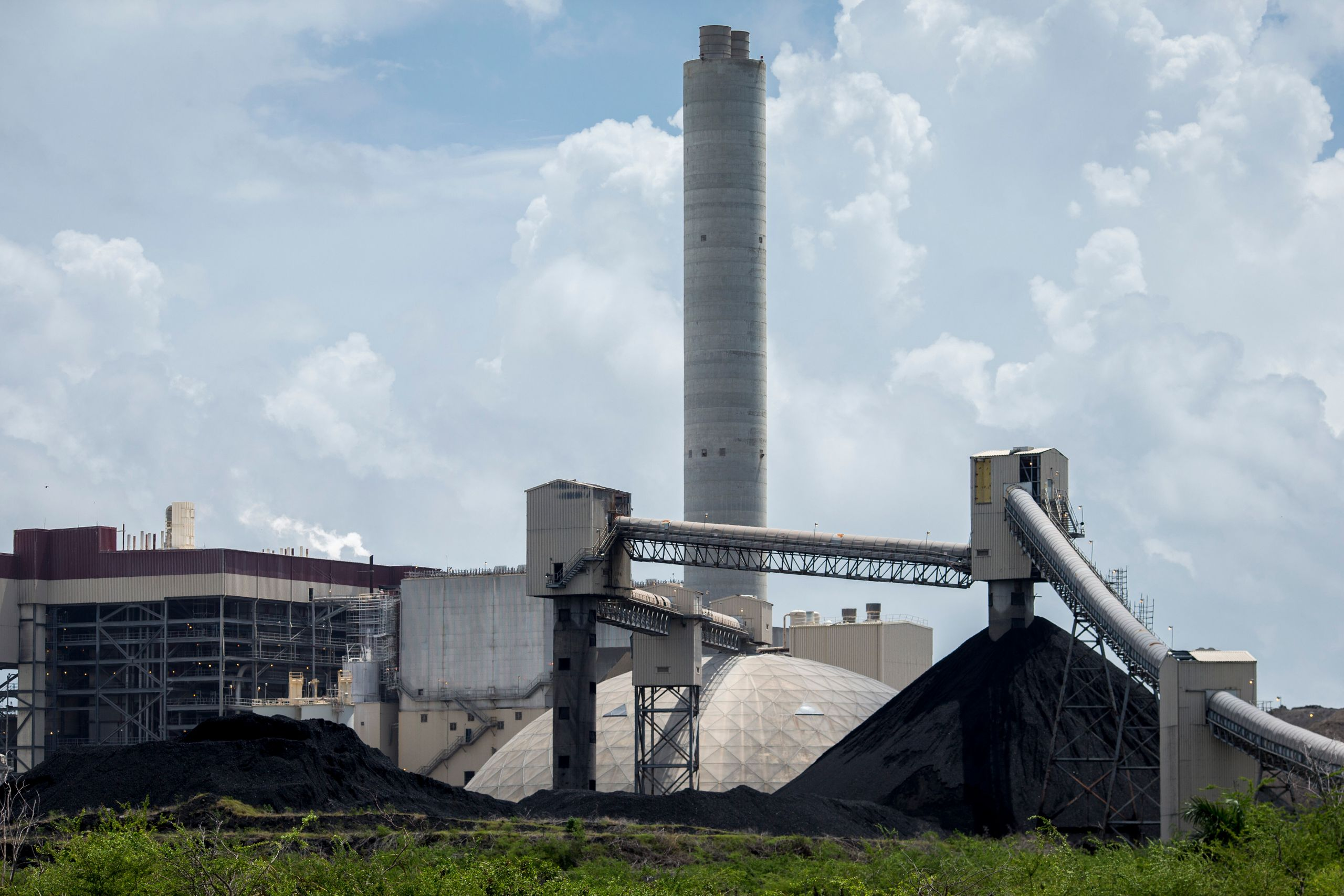 The AES coal-fired power plant in Guayama.