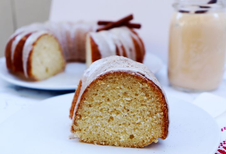 Eggnog Cake With Rum Glaze, The Most Festive Cake You Can Make