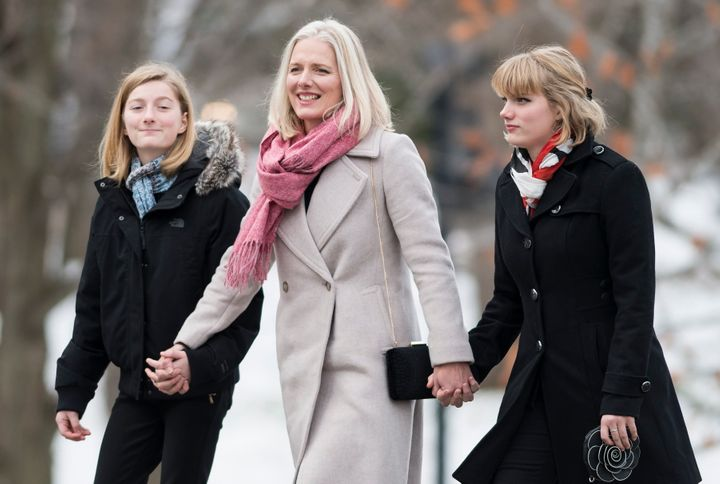 Liberal MP Catherine McKenna arrives for the swearing in of the new cabinet at Rideau Hall in Ottawa on Nov. 20, 2019.
