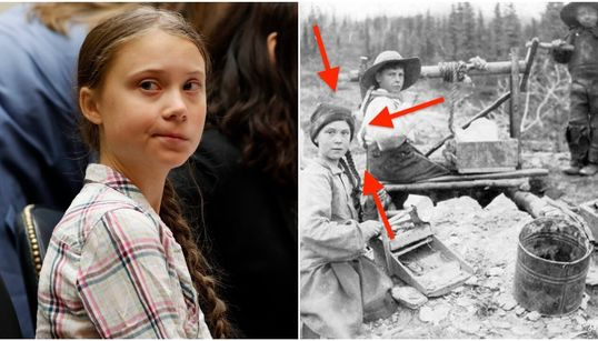 Photo From 1898 Sparks Hilarious Theory That Greta Thunberg Is A