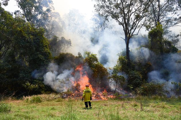 NSW Fire and Rescue crews on November 21,