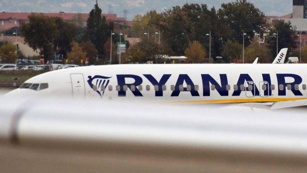 Uno de los aviones de la aerolínea Ryanair en una imagen de