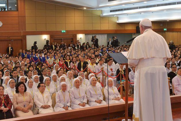 タイを訪問中のローマ教皇