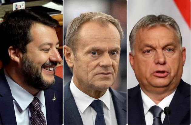 Matteo Salvini - Donald Tusk - Viktor