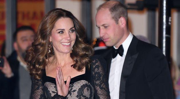 Los duques de Cambridge en el London Palladium el 18 de noviembre de 2019 en