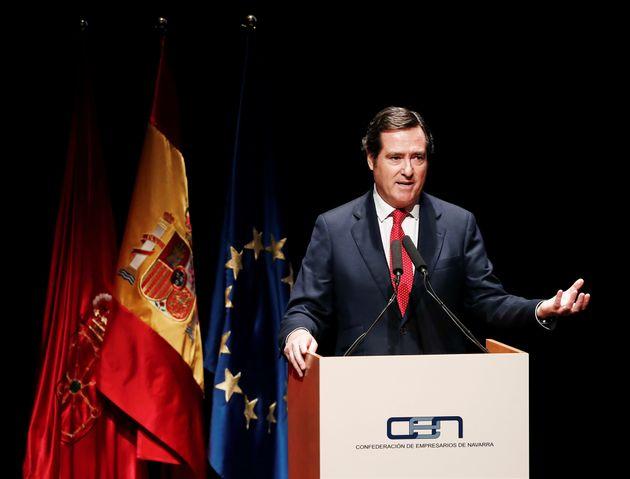El presidente de la CEOE, Antonio