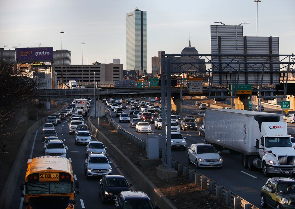 Traffic in Boston. Gridlock during peak commutes was worse in Boston in 2018 than in any other major metropolitan area, accor