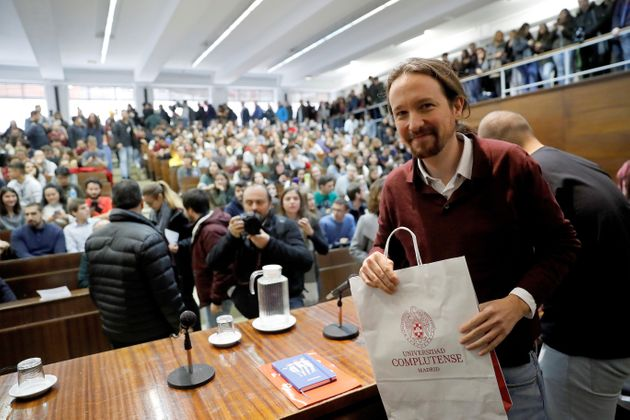 Pablo Iglesias reaparece en un acto en la Universidad Complutense de
