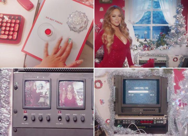 A few snapshots of Mariah Carey's incredible new festive video