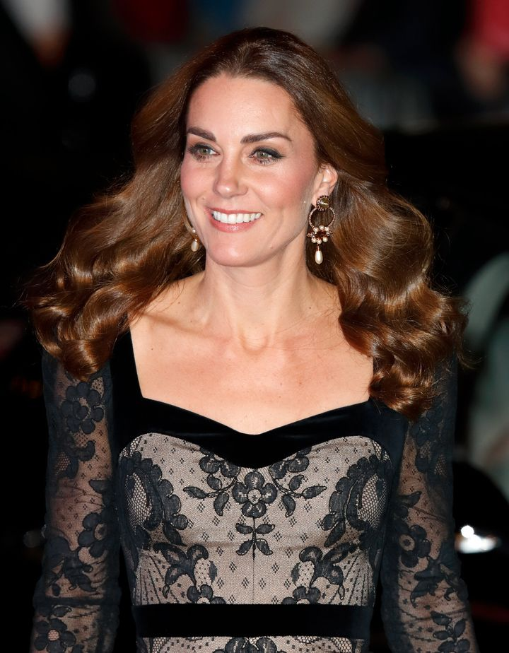 Kate chose a dress by one of her favorite designers, Alexander McQueen.