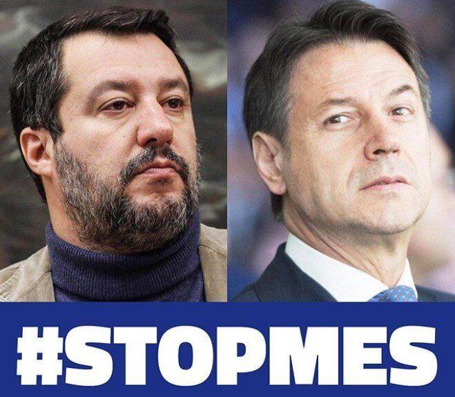 Il leader della Lega Matteo Salvini e il presidente del Consiglio Giuseppe Conte sulla pagina Instagram...