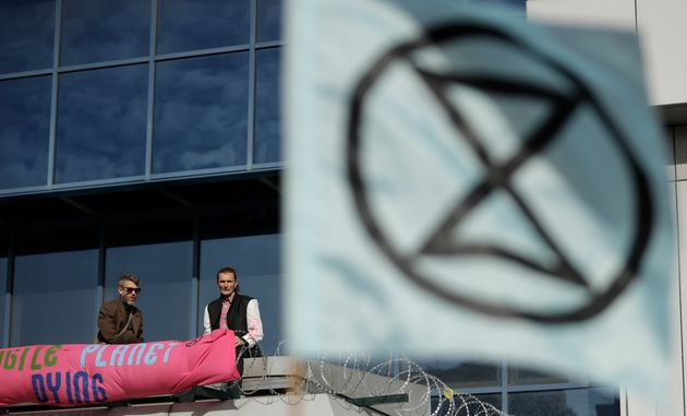 Extinction Rebellion à l'aéroport de