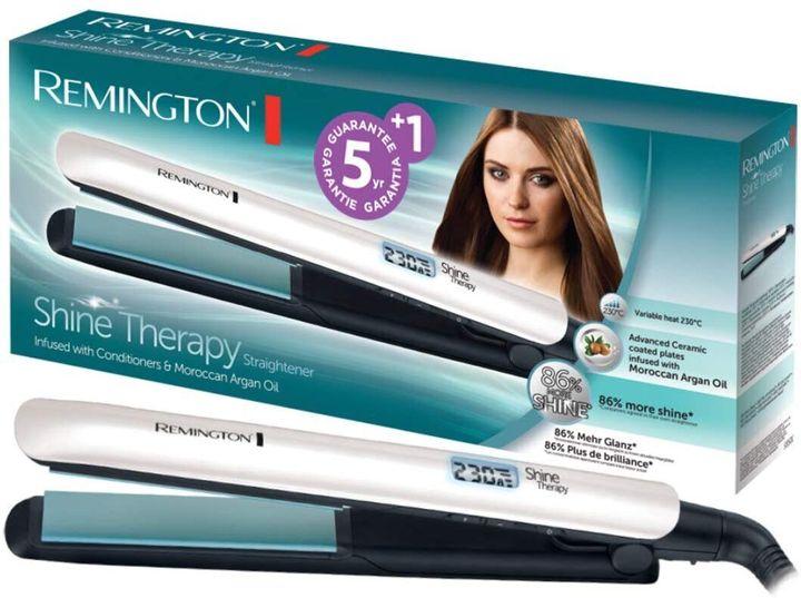 Ισιωτική Μαλλιών Με Κεραμική Πλάκα Remington Shine Therapy Με Μαροκινό Ελαιο Αργκάν, Amazon