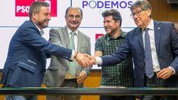 Sonrisas y lágrimas: así fueron los otros pactos entre PSOE y