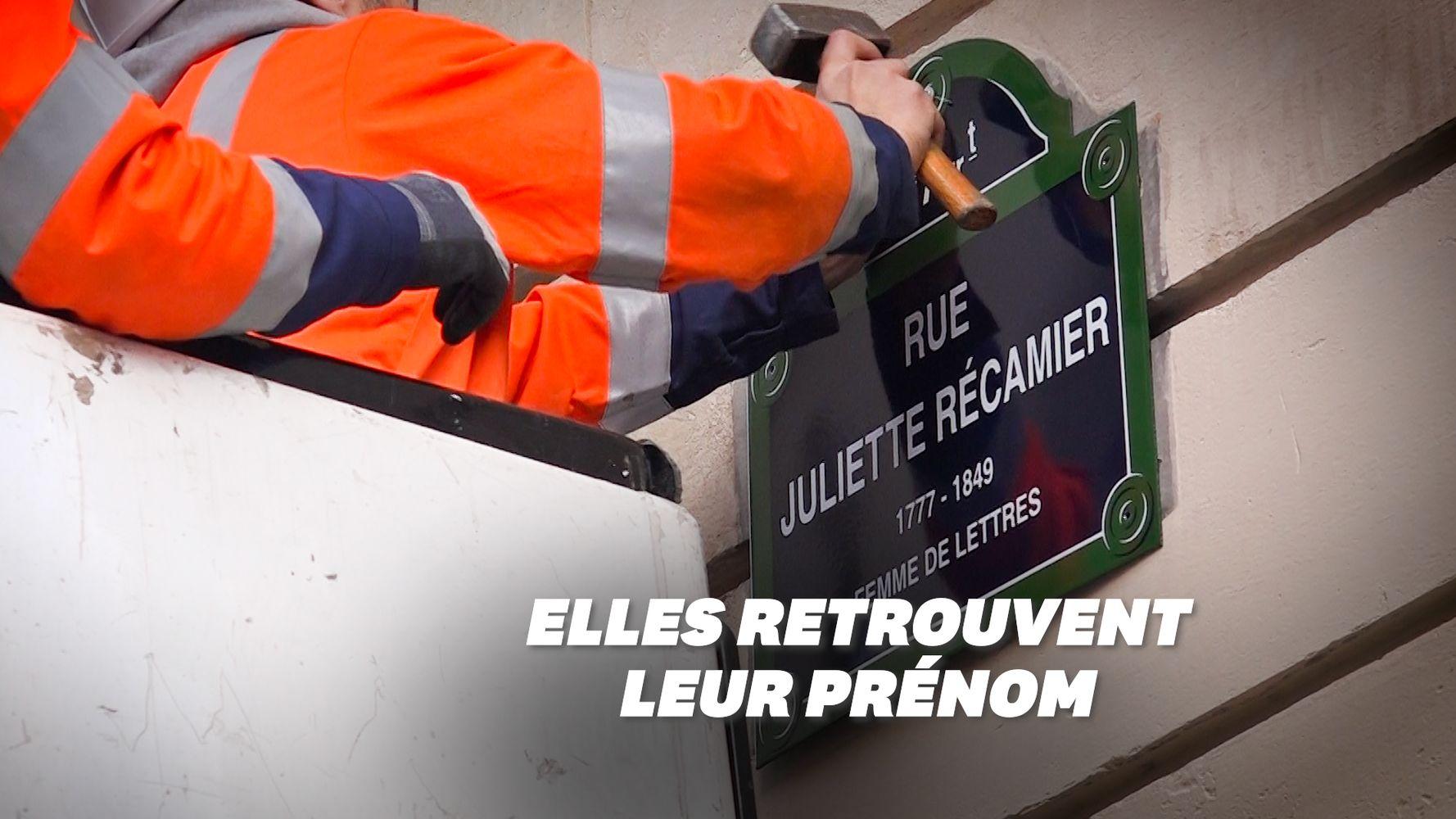 Sur cette plaque de rue à Paris, une femme illustre a retrouvé son prénom