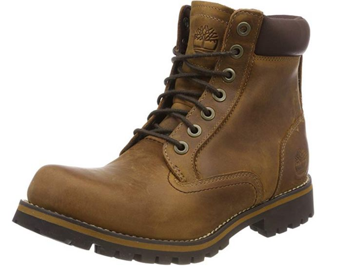 Αδιάβροχες μπότες με επένδυση Timberland Men's Rugged 6 Inch Plain Toe, Amazon
