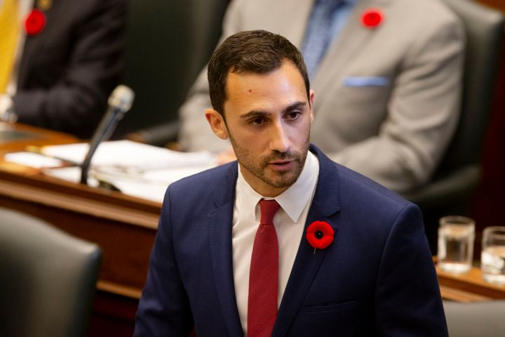 Ontario Minister of Education Stephen Lecce speaks in the legislature in Toronto on Oct. 28, 2019.