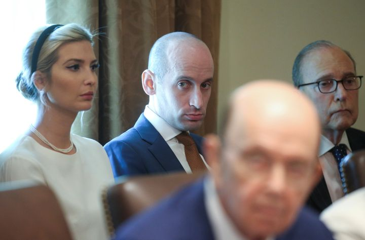 White nationalist White House adviser Stephen Miller during a cabinet meeting earlier this year.