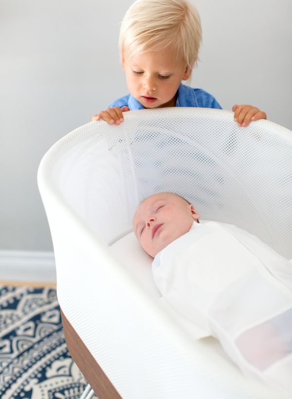 "Robots are literally invading everywhere -- including the nursery. This <a href=""https://www.happiestbaby.com/products/snoo-s"