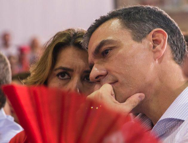 Susana Díaz y Pedro Sánchez, el pasado 31 de octubre, en un mitin electoral en