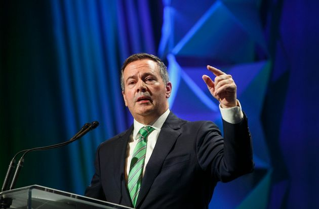 Alberta Premier Jason Kenney speaks at the Rural Municipalities of Alberta conference in Edmonton Alta,...