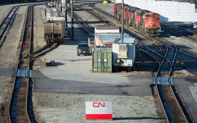 A quiet McLean Rail Yard is pictured in North Vancouver on