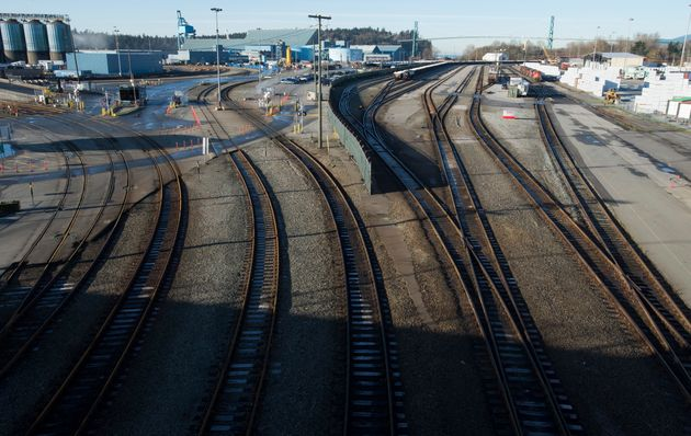 A quiet Mclean Rail Yard is pictured in North