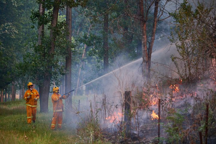 Bushfires continue in New South Wales.
