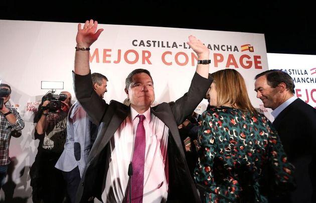 Emiliano García-Page tras ganar las elecciones el pasado