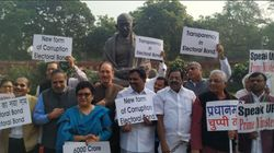 Congress Raises Electoral Bonds Issue In Rajya Sabha, Protests In Parliament