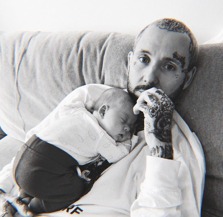 """'My kids make life worth living"""": Deez Nuts frontman JJ Peters and daughter."""