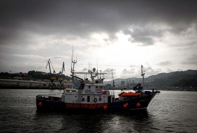 El buque de rescate humanitario Aita Mari, en el puerto de Pasajes, en una imagen de