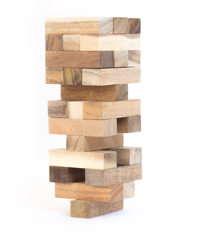 toy wood block tower