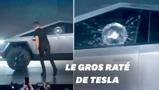 La présentation du Cybertruck de Tesla ne s'est pas passée comme