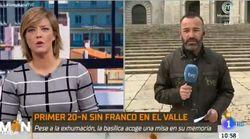 El susto de un reportero de TVE cuando informaba en directo desde El Valle de los