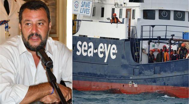 Matteo Salvini - la nave Alan Kurdi, dell'ong Sea