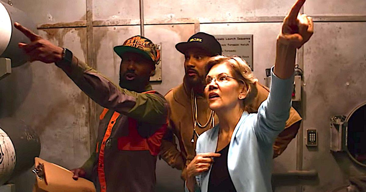 Elizabeth Warren And 'Desus & Mero' Try To Escape A Haunted Submarine